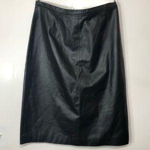 Vintage Spencer Jeremy Leather Skirt Size XL